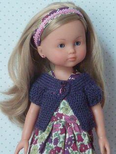 Gilet pour poupées Les Chéries, patron de tricot gratuit