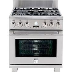 kenmore pro range $3779.00 4 star on sears  website  cons-after self cleaning it makes noise, knobs, grate loses color