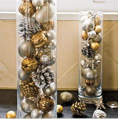 Gold/Silver Decorating 19 Amazing Christmas Decorations In Silver And Gold Christmas Candle, Christmas Home, Christmas Lights, Christmas Crafts, Xmas, Christmas Cubicle Decorations, New Years Decorations, Holiday Decor, Christmas Living Rooms