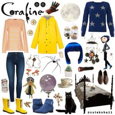 Coraline Aesthetic Coraline Halloween Costume, Diy Halloween Costumes, Halloween Cosplay, Cosplay Costumes, Costume Ideas, Coraline Theory, Coraline Art, Coraline Aesthetic, Coraline Jones
