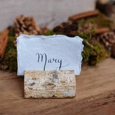 Rustic Wooden Bark Card Holders - Set Of 4 - The Wedding of My Dreams