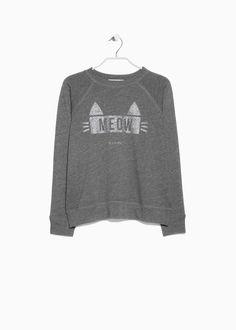 Glitter message sweatshirt