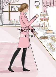 When you cant pick just one! Cupcakes and Sweets at the Bakery * hand drawn and colored digitally *Watermark will not appear on print * This is a print of my original illustration. * Printed on archival fine art paper. * She will come signed by me, the artist Heres What People