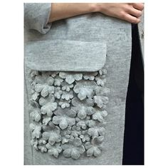 Ideas Flowers Fabric Manipulation Fashion Details For 2019 Couture Embroidery, Embroidery Fashion, Embroidery Dress, Fabric Manipulation Fashion, Textile Manipulation, Fashion Fabric, Diy Fashion, Fashion Dresses, Fashion Design