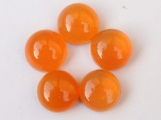 5 Pcs  28Cts. Top Quality 100% Natural AAA Quality Carnelian Cabochon Cab 11mm Round Jewelry Making Handmade Loose Gemstone Smooth Polish by zakariyagems on Etsy