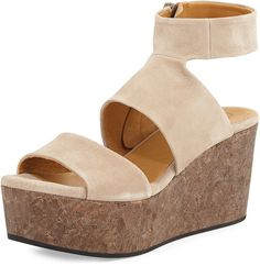 Coclico Max Platform Wedge Sandal, Nude