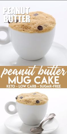 Keto Peanut Butter Mug Cake Quick and easy! This peanut butter mug cake has become a favorite in our house and we make it for both breakfast and dessert. My kids adore it and it takes only about 10 minutes to make. Low carb and sugar free. Mug Recipes, Low Carb Recipes, Cake Recipes, Dessert Recipes, Recipes Dinner, Keto Desserts, Easy Desserts, Holiday Desserts, Easy Keto Dessert