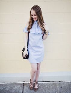 Blue Ruffle Cold Shoulder Dress   Exciting Announcement!