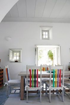 House Interior with ancient Greek and Byzantine tradition Paros, Big Baths, Handmade Furniture, Eclectic Decor, Colorful Decor, Decoration, Home Crafts, Beautiful Homes, Living Spaces