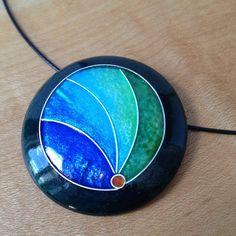 new cloisonné enamel pendant