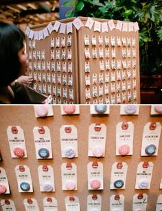 escort card display ideas for weddings. Whether you plan to seat guests with escort cards or with a seating chart, it's important to make it Seating Plan Wedding, Wedding Table, Wedding Favors, Diy Wedding, Rustic Wedding, Seating Plans, Wedding Souvenir, Nautical Wedding, Wedding Name Tags