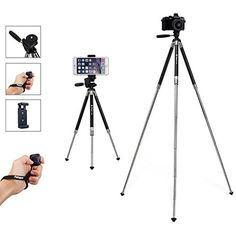 Smartphone Camera Tripod Aluminum Bluetooth Remote Control Shutter Clip Mount #Fotopro