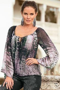 Boston Proper Exotic leopard blouse #bostonproper