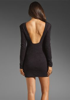 $154   BACKSTAGE Long Sleeve Caroline Dress in Black at Revolve Clothing - Free Shipping!