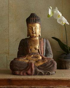 Antique Golden Buddha - Horchow