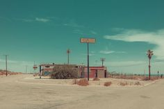 Gas station – Image from a photo series by Francoise Gaujour.