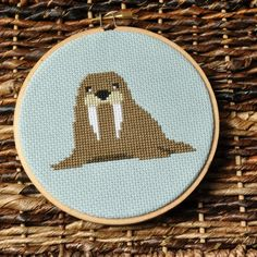 I am the Walrus cross stitch sewing seed on Etsy
