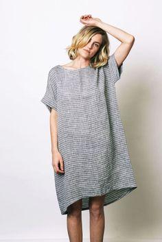 Linen sack dress