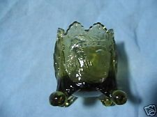 Old Green Glass OLD SLEEPY EYE TOOTHPICK HOLDER