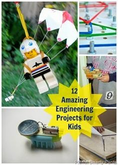 Planet Smarty Pants - 12 Amazing Engineering Projects for Kids #stemactivities