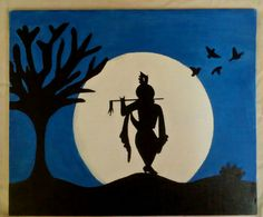 This is a canvas painting of Shri Krishna made by me. Poster Color Painting, Texture Painting On Canvas, Simple Canvas Paintings, Oil Pastel Paintings, Art Painting Gallery, Oil Pastel Art, Oil Pastel Drawings, Art Drawings Sketches, Canvas Art Projects