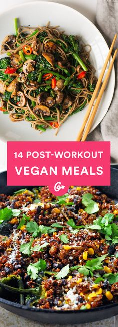 14 Awesome Post-Workout Meals for Vegans  #vegan #postworkout #recipes http://greatist.com/eat/vegan-post-workout-meals