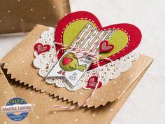 Petits_valentins_la_magie_des_etampes_3 Valentine Cards, Valentines Day, Etampes, Love Cards, Beautiful Things, Stampin Up, Creations, Kids, Inspiration