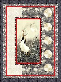 Japanese Quilt Patterns, Quilt Block Patterns, Japanese Fabric, Quilting Projects, Quilting Designs, Attic Window Quilts, Fabric Panel Quilts, Fabric Panels, Bubble Quilt