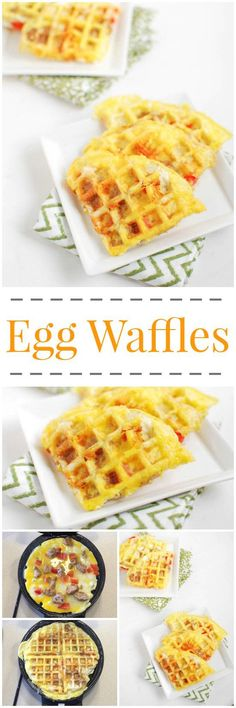 Eggs made in a waffle maker! Ready in one minute and easy to customize, after trying these Egg Waffles you'll never want to cook eggs in a pan again! Breakfast Desayunos, Breakfast Dishes, Breakfast Recipes, Breakfast Ideas, Homemade Breakfast, Egg Recipes, Brunch Recipes, Cooking Recipes, Recipies