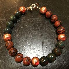 Circulation Bracelet (Mahogany Obsidian, Bloodstone, & Copper)