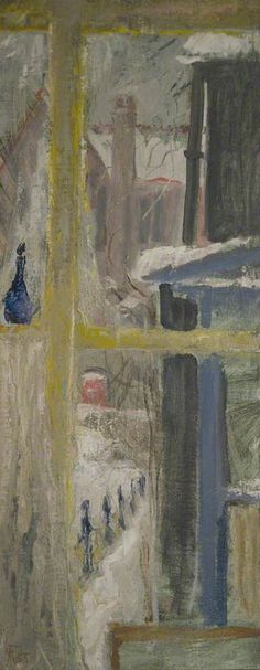 """Snow Outside"" by Margaret Thomas, 1955 (oil on canvas)"