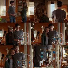 Amy: What's in there? Ty: This is... something for the baby... Amy: Really? What is it? Ty: Yeah. I'll show ya. There, I think it's ready. Amy: I think it's absolutely perfect. (10x03)