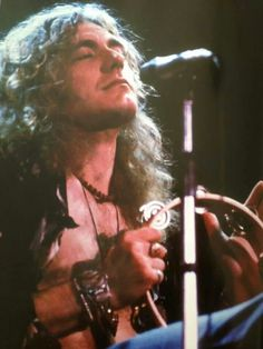 Robert Plant on tambourine -- Led Zeppelin
