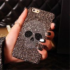 For iPhone 6/6s Plus 5.5 inch Case, Generic Handmade Diamond Skull Skeleton Hard Phone Case Cover Skin Gray. √ Note:There are many seller selling imitation products of MKLOT during these days.According to customers' feedback,those imitation products are made of plastic. We have our own production base.Goods sold by any other sellers are all fake.You may not receive any product after making the payment. As Amazon will close their account after investigation.If you had bought any fake...