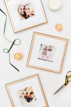 Instagram photos printed and framed in our rose gold Rosemont frame with a white mat. Just $39 each.