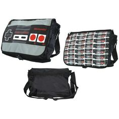 This Nintendo item features the instantly recognisable and iconic NES controller. Perfect for all retro Nintendo lovers. This is official Nintendo merchandise. Nintendo Store, Nintendo Classic Controller, E Sport, Pac Man, Tk Maxx, Baby Grows, Messenger Bag, Diaper Bag, Gym Bag