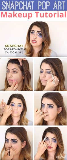Become the Pop Art/ Comic book character filter from Snapchat in real life! Makes for a wonderful costume that can be done on the cheap and really wow the crowd. Full tutorial here: http://www.ehow.com/how_12343425_4-snapchat-filter-makeup-tutorials-need-watch.html?utm_source=pinterest.com&utm_medium=referral&utm_content=freestyle&utm_campaign=fanpage