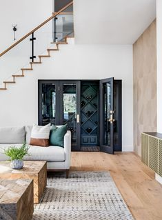 Seacliff Remodel | Lindye Galloway Studio Style Me Pretty Living, Stairs, Home, Wine Closet, Grey Walls, Closet Under Stairs, Pretty House, Eclectic Furniture, Bars For Home
