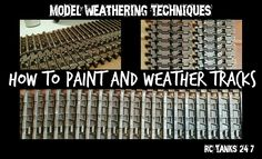 How To Paint And Weather Model Tank Tracks
