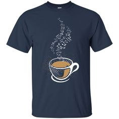 Music Notes Coffee Steam T-Shirt
