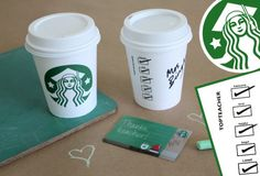 The cutest printout to personalize that Starbucks gift card you're giving your kid's teacher as a gift. You know teachers love their coffee, right? Keeps them awake for all that grading and planning.