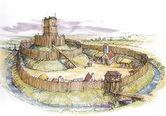 Types of Castle, pre-Norman wooden motte & beiley castle