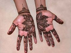 This is the bridal henna I did for an Indian bride marrying an Afghani man; the henna party was a nice mix of both sides of the family plus friends from all over the world. Bridal Mehndi, Henna Mehndi, Henna Art, Henna Tattoo Designs, Mehndi Designs, Mehndi Patterns, Tattoo Patterns, Beautiful Henna Designs, Beautiful Flowers