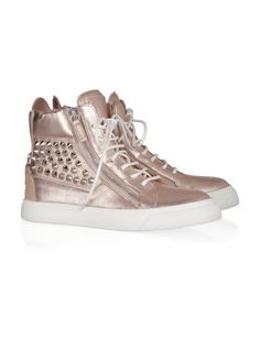A much louder alternative to quiet Converse or Keds, these sneakers are half basketball, half bling.
