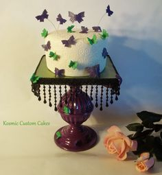 Butterfly Cake For more pics - Find us on Facebook TODAY! Kosmic Custom Cakes