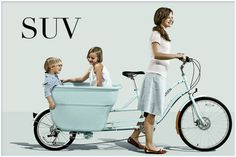 I just love these types of cargo bikes used for practical uses like carrying kids, groceries, dogs, your laundry?
