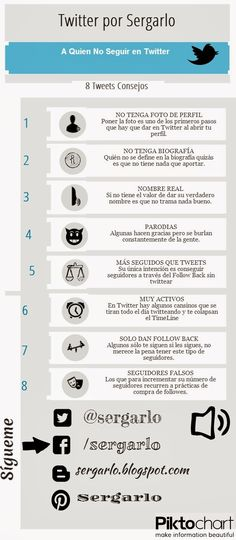 A quién no seguir en Twitter #infografia