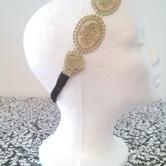 Brady Bands!! All Dressed Up- Gold Dressy Headband