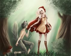 Scarlet and Wolf (Je'ev)     Red Riding Hood And The Wolf by ~Pummi-Gummi on deviantART