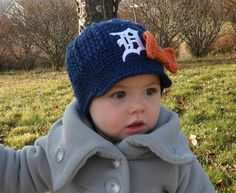Detroit baby cap- my future child needs this so badly!